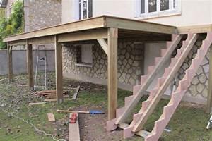 beau comment construire une terrasse couverte 4 With plan terrasse bois sur pilotis