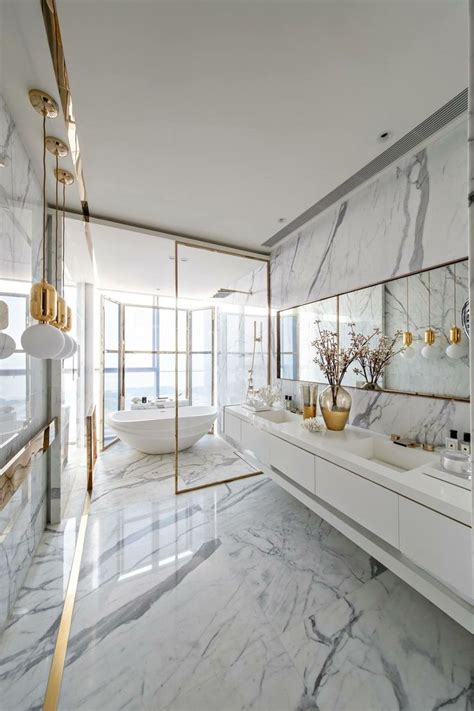 trendy materials  luxury bathroom decor ideas