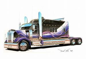 Image Gallery kenworth truck drawings