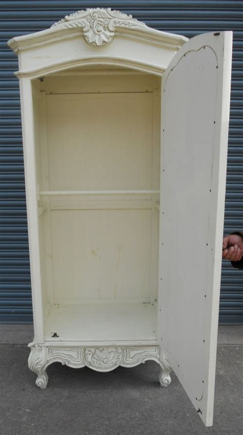 White Armoire With Mirrored Door by White Painted Mirror Door Louis Style Armoire Wardrobe Sold
