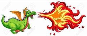 Dragon Blowing Fire Clipart - ClipartXtras