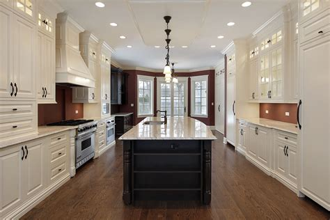 galley style kitchen with island 53 spacious quot construction quot custom luxury kitchen designs