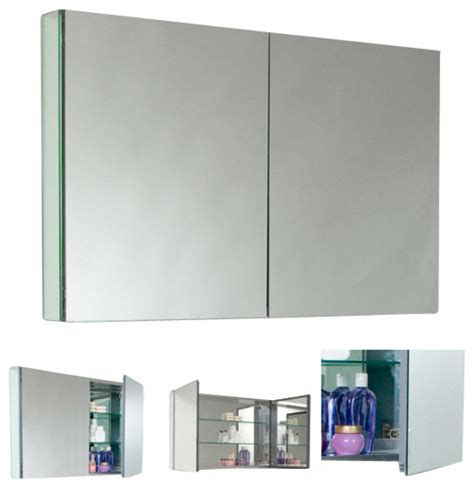 double wide medicine cabinet fresca fmc8010 40 inches wide bathroom medicine cabinet