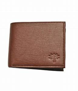 Woodland Formal Mens Leatherite Bifold Wallet In Brown