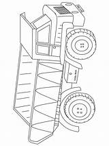 Dump Truck Coloring Pages Printable Mycoloring Transportation sketch template