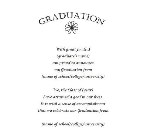 graduation announcements  wording  geographics