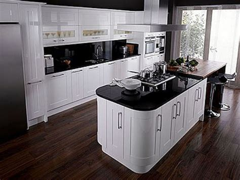 kitchen with black and white cabinets the black and white kitchen designs for your home 9627