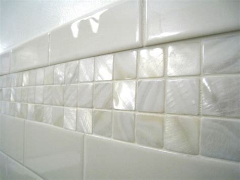 would these of pearl tiles also be suitable or