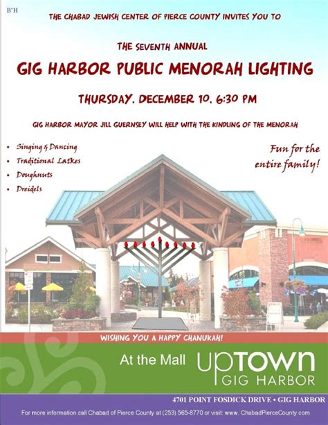 gig harbor public menorah lighting chabad pierce county