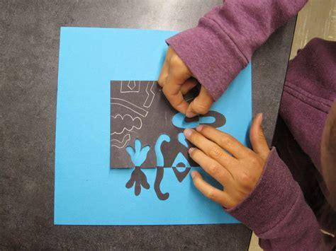 Zilker Elementary Art Class Fifth Grade Positive Negative Collages