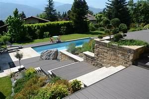 construction de piscines bernin grenoble echirolles With photo de jardin avec piscine 1 exotique paysage