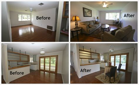 home design before and after staging can take your vacant home from cold to cool