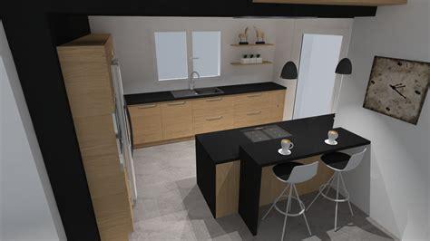 cuisine gris noir merveilleux cuisine bois gris clair 2 cuisine moderne