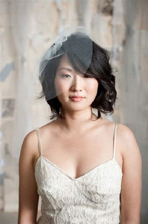 short hair with veil for wedding   My Hairstyles Site