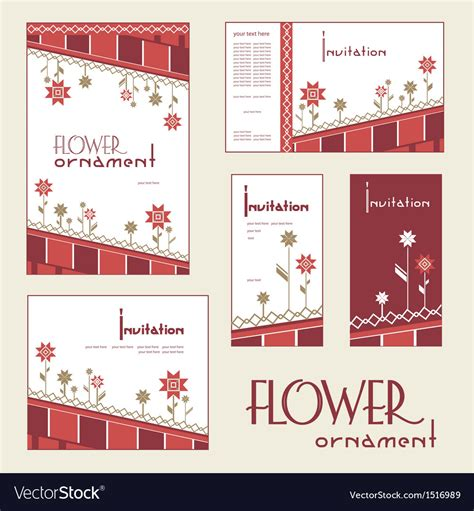 Invitation cards Royalty Free Vector Image VectorStock