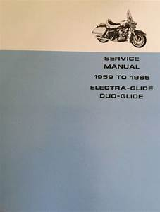 Harley Fl Flh Service Manual 58 To 65 Panhead Electra Duo