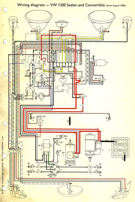wiring diagram for 1966 vw beetle 1966 beetle wiring diagram thegoldenbug