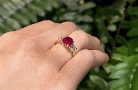 ruby  diamond ring  village goldsmith