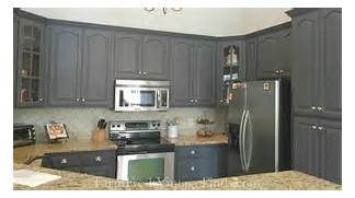 Painted Kitchen Cabinets Before And After Grey by Queenstown Gray Milk Paint Kitchen Cabinets General Finishes Design Center