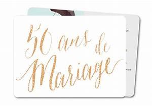 Faire Part Anniversaire 50 Ans : carte anniversaire de mariage 50 ans texte planet ~ Edinachiropracticcenter.com Idées de Décoration