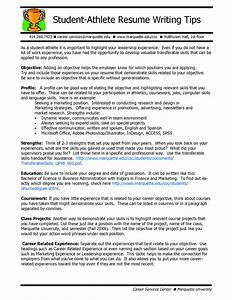student athlete resume resume and cover letter resume With athletic resume template