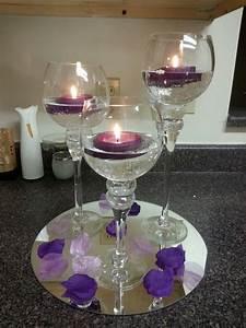 purple wedding table centerpiece purple wedding With bride and groom table centerpiece