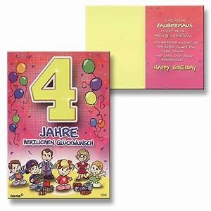 Geburtstagsspiele 4 Jahre : archie geburtstagskarte zum 4 geburtstag m dchen rosa gl ckwunschkarte kinder ebay ~ Whattoseeinmadrid.com Haus und Dekorationen