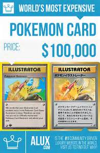 most expensive pokemon card in the world price by alux infographic image picture