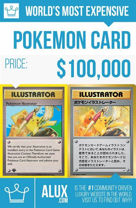We believe in making pokémon information as clear and easy to digest as possible. most expensive pokemon card in the world price by alux infographic image picture - Alux.com