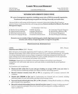 non profit executive page1 non profit resume samples With non profit program director resume sample