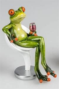 Frosch Als Haustier : einrichten24 eine gute entscheidung dekofigur lustiger frosch auf modernem stuhl 16 cm ~ Buech-reservation.com Haus und Dekorationen