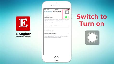 how to turn on a iphone 5 how to turn on or enable or show easy touch on iphone 5 6