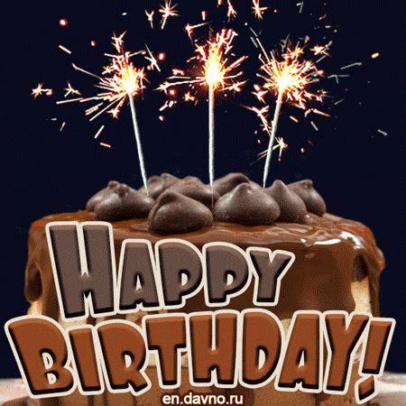 chocolate cake  animated birthday card   davno