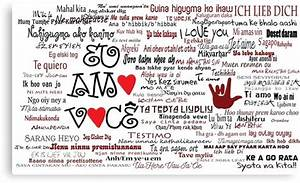 """""""I love you in over 100 different languages!"""" Canvas ..."""