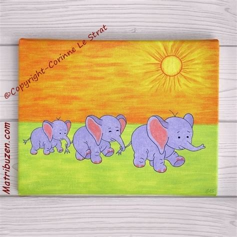 chambre bebe elephant tableaux pour chambre d 39 enfant singe éléphants girafes