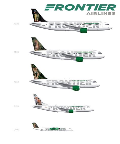 Frontier airlines fleet | Airline logo, Jet airlines ...
