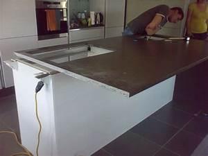 gema granit quartz hi macs plan de travail cuisine sol With revetement cuisine plan de travail
