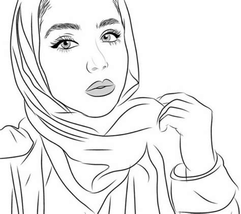 hejab drawing images  pinterest fashion