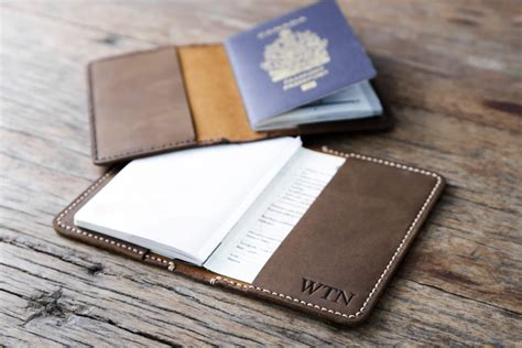 passport holder designer personalized leather passport holder