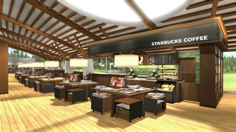 real japanese starbucks   city library project