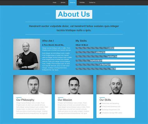 bootstrap portfolio website templates web