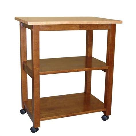 Microwave Cart in Cinnamon/Espresso   WC58 185