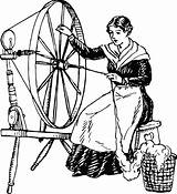 Spinning Wheel Clipart Using Template Coloring Sketch sketch template