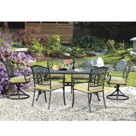 sunjoy poppy 7pc patio dining set