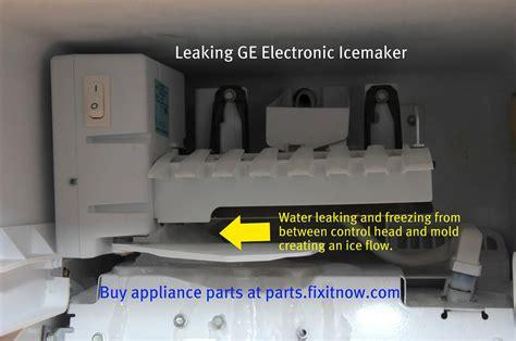 ge maker leaking water floor leaking ge icemaker icemaker repair gallery the