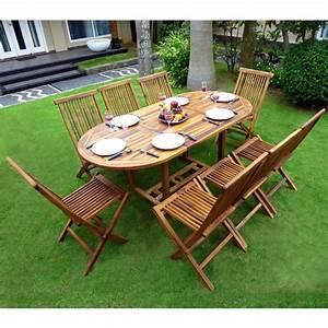 Salon Jardin Teck : ensemble de jardin en teck salon 8 places table teck ovale ~ Melissatoandfro.com Idées de Décoration