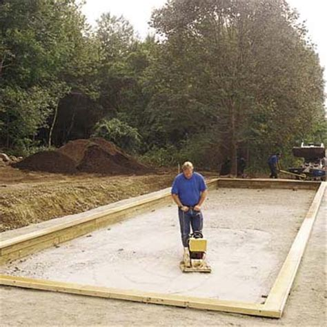 how to build bocce court building the bocce court a backyard built for playing games this old house