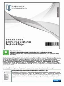 Mechanics Of Materials 7th Edition Solution Manual Pdf