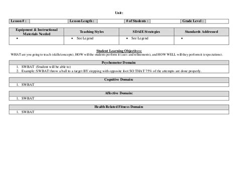 Danielson Lesson Plan Template Doc by Lesson Plan Template 2 Doc Markups