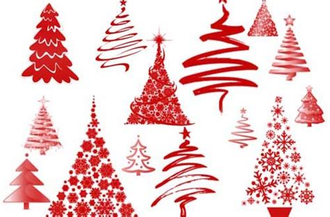 50 free christmas trees and decoration brushes for